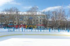 Winter stadium Royalty Free Stock Image