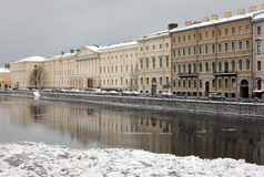 Winter-Stadt Stockfotografie