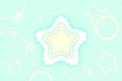Winter star background Stock Image