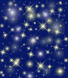 Winter star background Royalty Free Stock Image