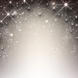 Winter starry christmas background. Royalty Free Stock Photo