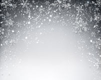 Winter starry christmas background. Stock Photo