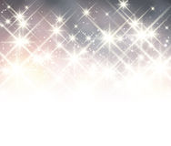 Winter starry christmas background. Royalty Free Stock Photos