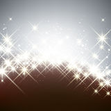 Winter starry christmas background. Stock Image