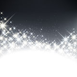 Winter starry christmas background. Royalty Free Stock Image