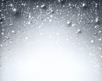 Winter starry christmas background. Royalty Free Stock Photography