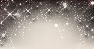 Winter starry christmas banner Stock Image