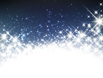 Winter starry christmas banner. Royalty Free Stock Images