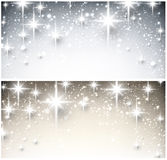 Winter starry christmas banners. Stock Images