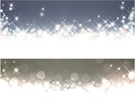 Winter starry christmas banners. Royalty Free Stock Photography