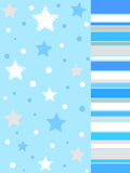 Winter stars and snow flakes Stock Photos