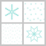 Winter stars and snowflakes Royalty Free Stock Photos
