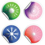 Winter stickers Royalty Free Stock Photography
