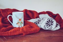 Simple winter still life stock images