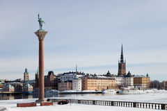 Winter in Stockholm Stock Photos