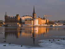 Winter in Stockholm. City, Sweden Royalty Free Stock Photo
