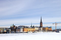 Winter in Stockholm Royalty Free Stock Images