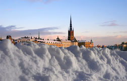 Winter in Stockholm with snow Stock Images