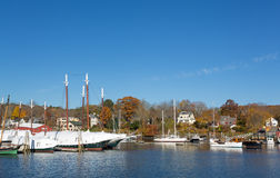 Winter stored schooners in Camden, Maine Royalty Free Stock Photo