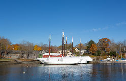 Winter stored schooners in Camden, Maine Royalty Free Stock Image
