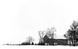 Winter Storm. A snow storm on a farm Royalty Free Stock Photography