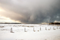 Winter storm. Winter storm approaching on the prairies Royalty Free Stock Image