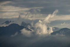 Winter storm above Jordanian mountains, Jordan Royalty Free Stock Photo