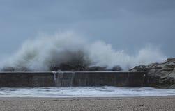 Winter storm on the adriatic sea Stock Photos