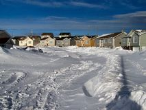 Winter storm aftermath 2. This is the aftermath of a winter blizzard that left the city of st.john's nefoundland canada paralyzed. It would be two days before Royalty Free Stock Photo
