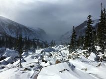 Winter Storm Approaching in Rocky Mountain National Park Royalty Free Stock Photography