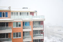 Winter storm Royalty Free Stock Photo
