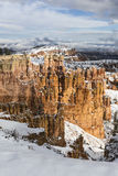 Winter Storm Clouds over Bryce Canyon National Park stock photography