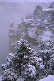 Winter storm in Grand Canyon Stock Photos