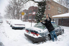 Winter Storm Hercules Stock Photography