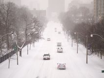 Winter storm hits Toronto Royalty Free Stock Image