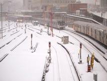 Winter storm hits Toronto royalty free stock image