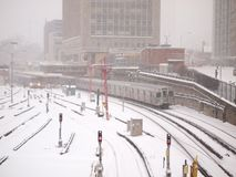 Winter storm hits Toronto Royalty Free Stock Images