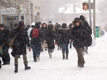 Winter storm hits Toronto Stock Photography