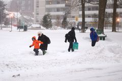 Winter storm hits Toronto Stock Photos