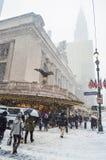 Winter Storm Janus NYC Stock Images