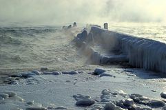 Winter storm landscape - Black Sea Royalty Free Stock Photography