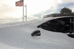 Winter storm New York Stock Photography
