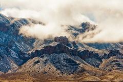 Winter Storm Snow Chisos Mountains Big Bend NP TX Stock Image