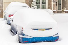 Winter storm in South New Jersey Stock Images
