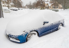 Winter storm in South New Jersey Stock Image
