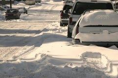Winter-Straße Stockfotografie