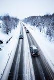 Winter-Straße Lizenzfreies Stockfoto