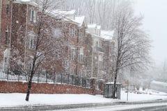 Winter-Straße in Fairfax lizenzfreies stockbild