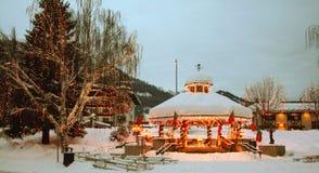 Winter-Straßen-Szene 02 Stockbild