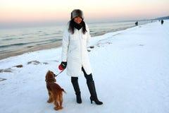 Winter-Strand Lizenzfreie Stockbilder
